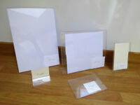 Acrylic Poster Menu Leaflet Display Stands - mixed sizes Retail Display