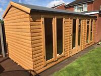20x10 log summer house 22mm log t&g
