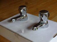 Standard hot and cold taps. Suitable for utility room or cloakroom sink or small bathroom