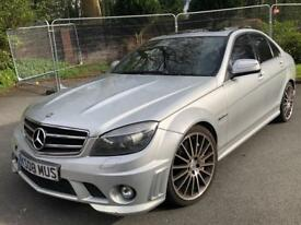 MERCEDES-BENZ C63 AMG 2008 HPI CLEAR GENUINE MILEAGE ALLOYS LEATHER PART EX S3 GOLF R