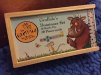 Wooden gruffalo dominos