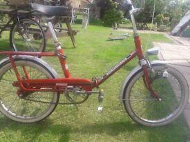 Hercules folding bicycle
