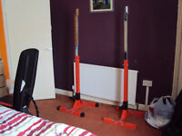 Marcy Gym Bench With Olmpro Elite Squat Stands