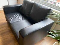 Wayfair Sofa black 2 seater faux leather