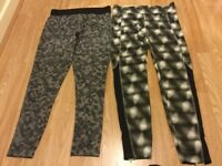 2 pairs fitness leggings size 12