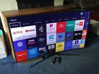 SAMSUNG 55 INCH CURVED 4K SUPER UHD SMART LED INTERNET TV.