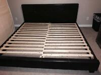 King Faux Leather Bed Frame