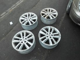 VAUXHALL VECTRA C,SIGNUM SRI SET OF 4 17 INCH ALLOY WHEELS WITHOUT TYRES