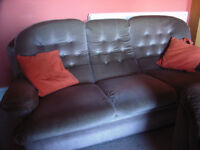 Sofa - 3 seater. Light brown fabric. For collection.