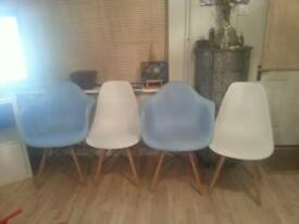 charles ray eames style dining chairs