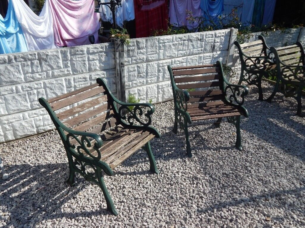 Cast Iron Garden Chairs Bench Ends Patio Furniture Vintage Outdoor In St Helens Merseyside Gumtree