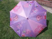 Kids umbrellas. Peppa pig, Spiderman and Winnie the Pooh