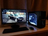 Gaming PC i5, 24 inch Samsung Curved Monitor, Logitch Gaming Mouse & Keyboard