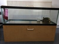 Gerbil cage/ fish tank with storage and accessories