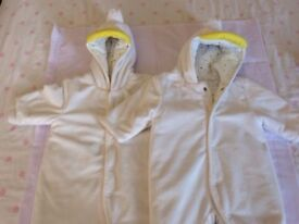 Next Baby Fleece all in one - two items for twins