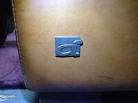 genuine brown 2 seater leather used sofa