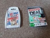 little britian top trump cards and monopoly deal cards