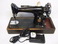 VINTAGE 1935 SINGER 201K HEAVY DUTY ELECTRIC SEWING MACHINE