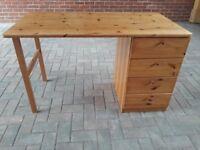 Pine Ikea desk