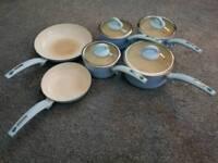 6 tower blue pans