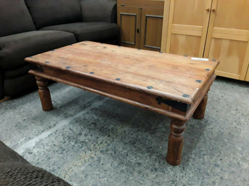 Medium Sized Sheesham Hardwood Coffee Table. Delivery Available