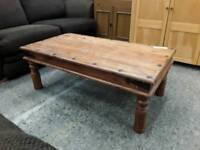 Medium Sized Sheesham Hardwood Coffee Table. Delivery Available