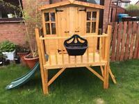 Children's wooden garden playhouse