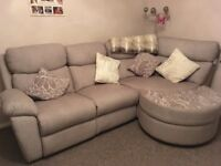 SCS fabric corner sofa in immaculate condition