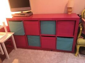 IKEA Cube Storage Unit Pink with 8 Drawers