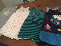 4 x baby sleeping bags, 0-6month
