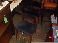 Super Clean Pair Of Retro Teak Chairs