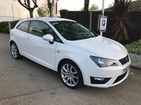 2013 Lovely Seat Ibiza 1.2 TSI FR Sport Coupe white 3dr 1 year mot Low Mileage 44000 Cat D