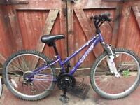 Girls 8 to 12 yrs. front suspension bike. Can deliver