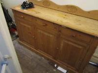 Wooden farmhouse side board