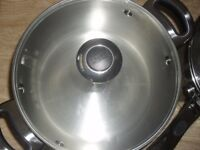 Set of Meyer stainless Steel pans