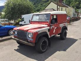 Land Rover 90 project solid chassis