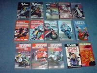 Motorcycle VHS videos, British SuperBike, World SuperBike & SuperSport, Moto GP, excellent condition