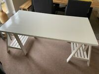 IKEA LINNMON / FINNVARD Table, white 150x75 cm