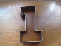 Number cake tins. 1 to 5. Industrial heavy duty