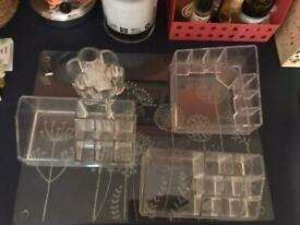 Clear makeup storage