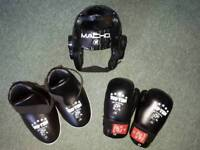 Children's kick boxing safety kit