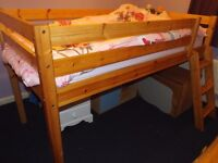 Pine Mid-Sleeper Bed WITHOUT Mattress