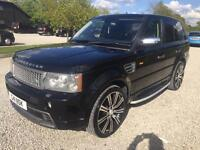 Range Rover sport 3.6 v8 diesel hst auto 22 inch wheels black with black leather