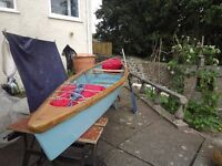 Ply and timber canoe - 13ft