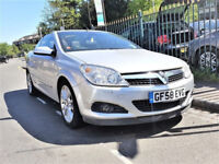 (41000 Miles)- Vauxhall Astra 1.8 Design Convertible TwinTop - 41000 Miles - half LEATHER Great Spec