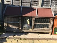 X2 Rabbit hutches for sale