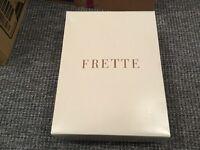 BRAND NEW frette luxury Italian 100% Cotton white bath robe with hood, s/m
