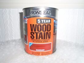 Ronseal 5 year wood stain Mahogany