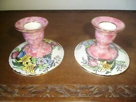 PAIR OF MALING CANDLE HOLDERS ,FROM 1950'S.