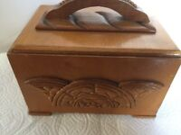 Art Deco wooden cigar box